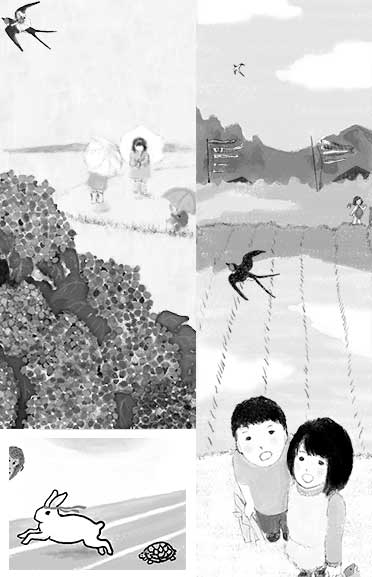 Illustrations for Haha no Tomo (Mothers' Companion) , magazine Client:Fukuinkan Shoten Publishers, Inc.
